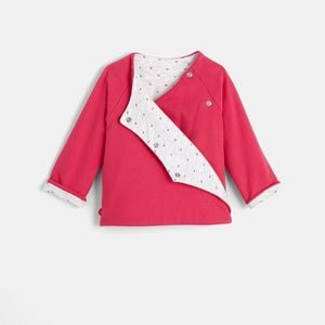 OBAIBI Little Bunny Pink Heart Reversible Kimono